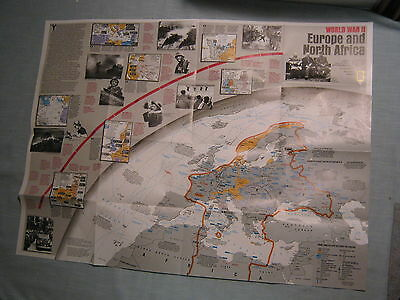 WORLD WAR II EUROPE & AFRICA + ASIA & PACIFIC MAP National ...