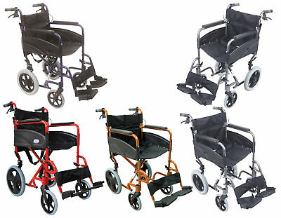 Aidapt Compact Transport Aluminium Wheelchair (Choose Your Colour)