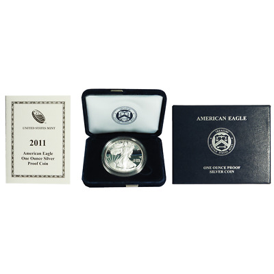 2011-W Proof $1 American Silver Eagle Box OGP & COA