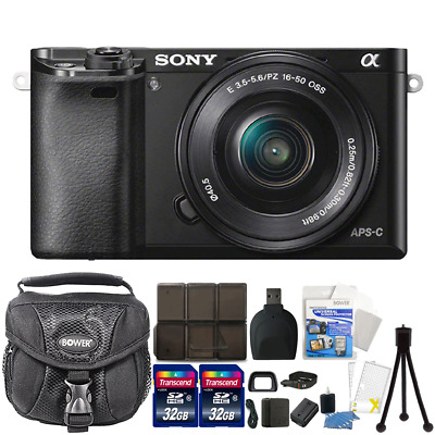 Sony Alpha A6000 Mirrorless  Camera with 16-50mm Lens 24.3MP & Accessory Kit