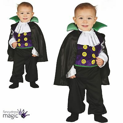 Boys Baby Toddler Halloween Vampire Dracula Fancy Dress Costume Outfit Cute Cape
