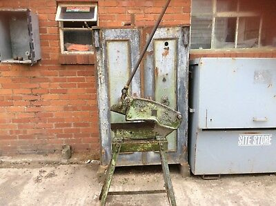 sheet metal guillotine vintage