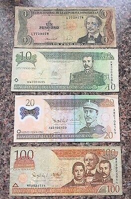DOMINICAN REPUBLLIC 1,10,20,100 Pesos Banknote World Currency BILL Note
