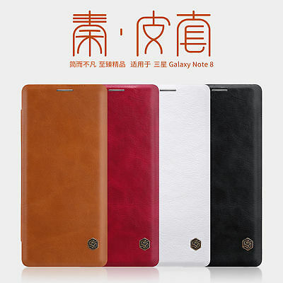 Original Nillkin PU Leather Flip Card Cover Case For Samsung Galaxy Note 8 / 9