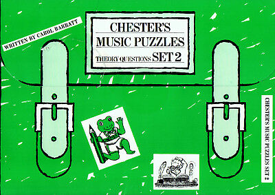 CHESTER'S MUSIC PUZZLES SET 2 THEORY QUESTIONS PAPERS Part Book Shop Soiled