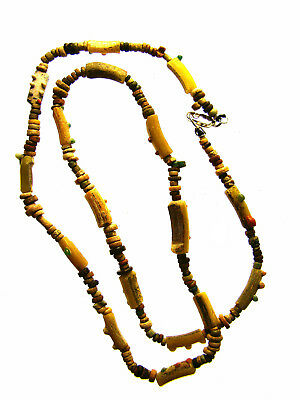Egyptian Mummy Bead & Roman Glass 20-in. Necklace Restrung, circa 600-5th cen AD