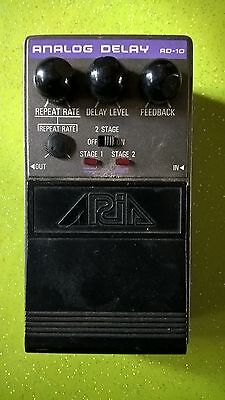 Aria AD-10 Analog Delay Dual Stage Rare Vintage Guitar Effect Pedal MIJ Japan