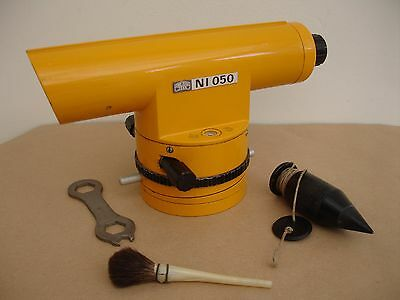 Carl Zeiss Jena  Ni 050 Surveying Level Complete With Wooden Case & Accessories