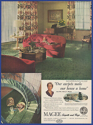 Vintage 1948 MAGEE Carpets and Rugs Home Interior Bloomsburg PA Print Ad 40's