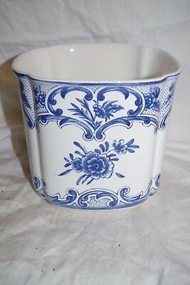 TIFFANY DELFT CACHE POT PORTUGAL for TIFFANY & CO. 1996 Floral Vase