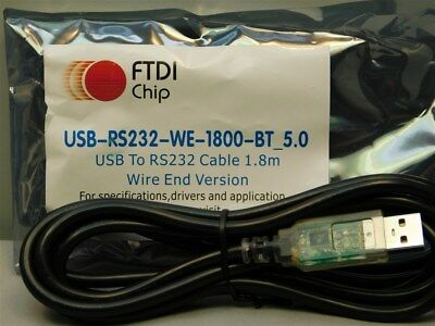 FTDI  USB-RS232-WE-1800-BT_5.0  USB to RS232 Serial Converter Cable Wire End