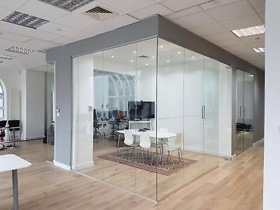 Beautifully Designed 10mm Toughened Office Glass Partitioning