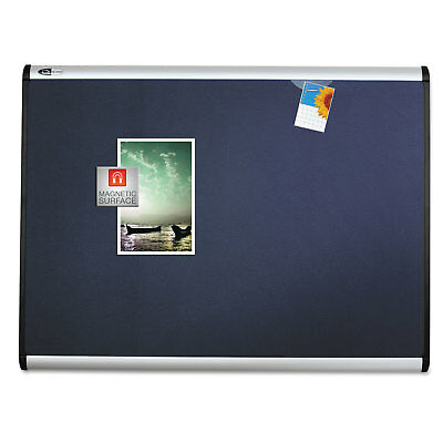 Quartet Prestige Plus Magnetic Fabric Bulletin Board 36 x 24 Aluminum Frame