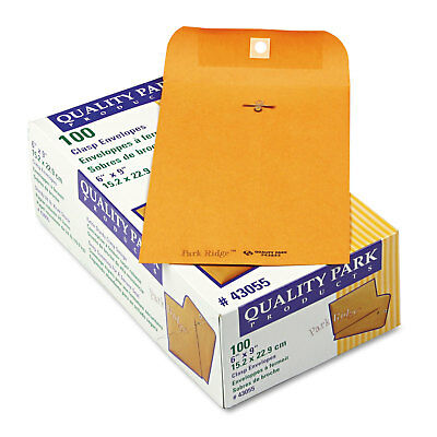 Quality Park Park Ridge Kraft Clasp Envelope #55 6 x 9 Brown Kraft 100/Box 43055