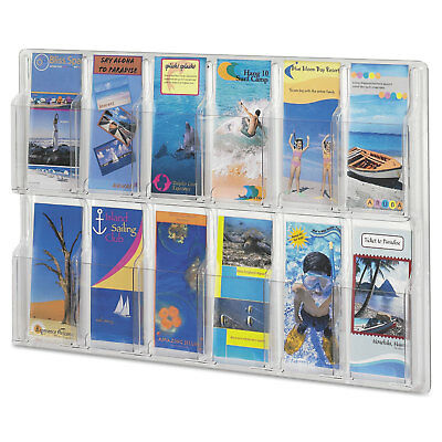 Safco Reveal Clear Literature Displays 12 Compartments 30 w x 2d x 20 1/4h Clear