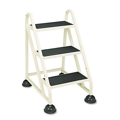 "Cramer Three-Step Stop-Step Aluminum Ladder 32 3/4"" High Beige 103019"