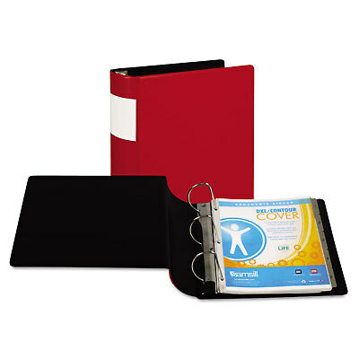 "Samsill DXL Heavy-Duty Locking D-Ring Binder With Label Holder 4"" Cap Red 17693"