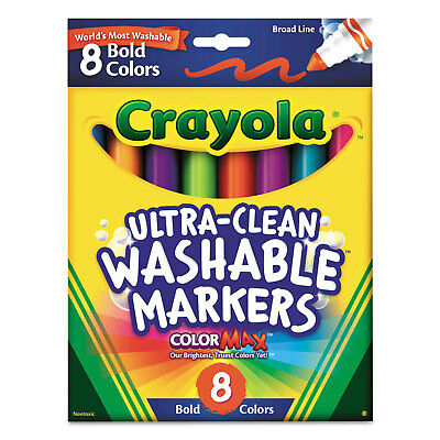 Crayola Washable Markers Broad Point Bold Colors 8/Set 587832
