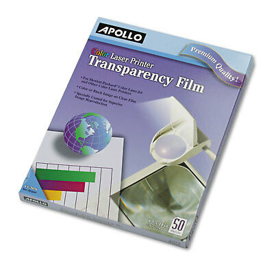 Apollo Color Laser Transparency Film w/o Sensing Stripe Letter Clear 50/Box