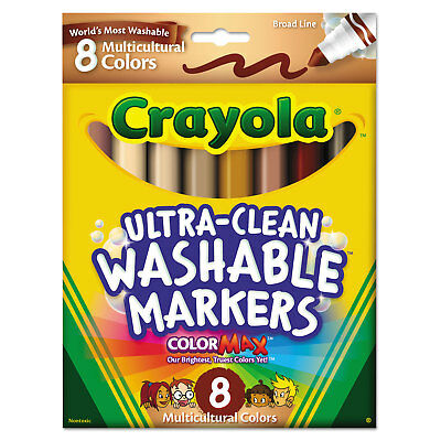 Crayola Washable Markers Conical Point Multicultural Colors 8/Pack 587801