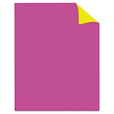 Royal Brites Two Cool Poster Board 22 x 28 Fluorescent Pink/Canary 25/PK 24344