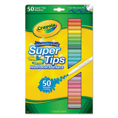 Crayola Washable Super Tips Markers Assorted 50/Set 585050