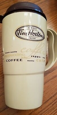 Tim Hortons Insulated Travel Mug great condition plastic