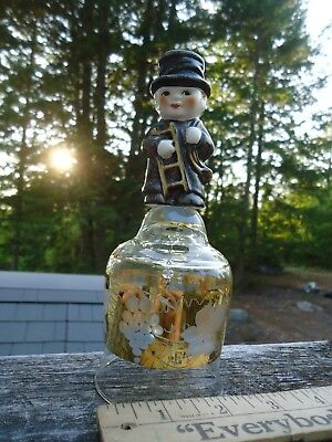 """Goebel Chimney Sweeper Bell With Figurine, West Germany 6.5"""" Tall, Vntg, Free S"""