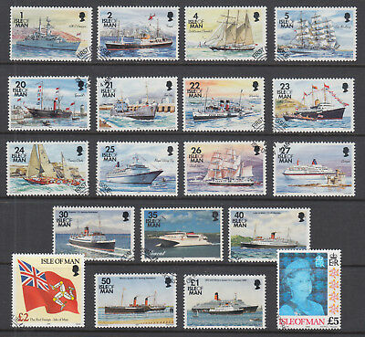 Isle of Man Sc 531-553C used. 1993-96 Famous Ships, complete set