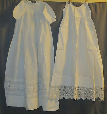 "1910 Baby Christening Dress & Slip -JUST ADDED 22"" DRESS SAME PRICE!!!"