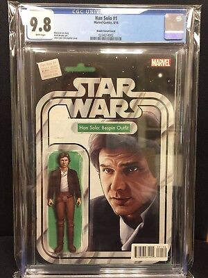 Marvel Star Wars Han Solo #1 Action Figure Variant Cover CGC 9.8 Harrison Ford
