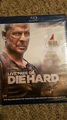 Live Free or Die Hard [2 Discs] [Blu-ray/DVD] (Blu-ray Used Like New) BLU-RAY/WS