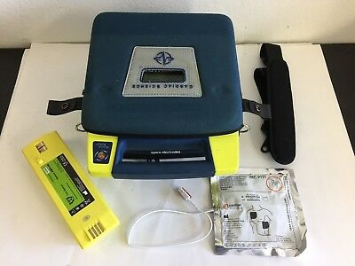 Cardiac Science Powerheart G3 Biphasic AED w/ NEW Battery, NEW Adul Pad and Case