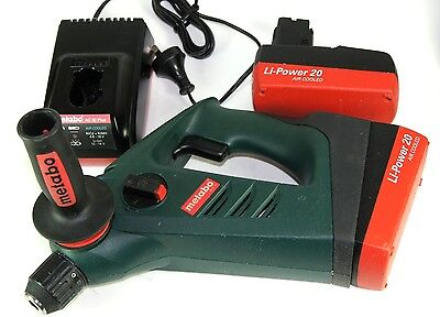 METABO ROTARY HAMMER DRILL BHA 18*MADE IN GEMANY*2xBATTERIES CHARGER CASE MANUAL