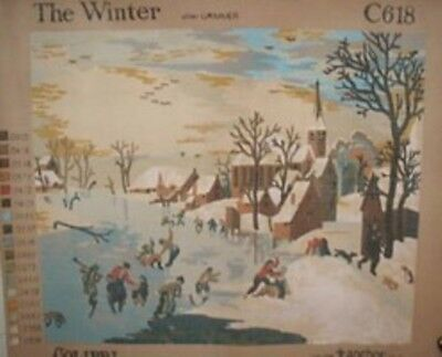 "Needlepoint Gorgeous ""Winter"" 10/20  Ct Canvas By Anchor!!  #Tp123"