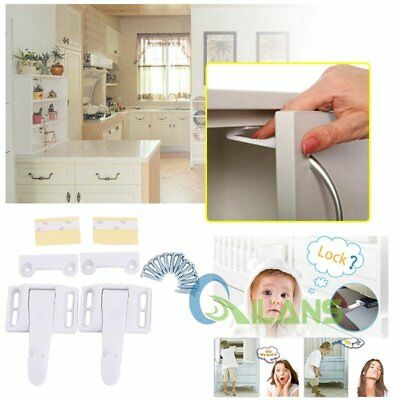 14Pack Wide Grip Cabinet Locks Drawer Latches For Child Baby Toddler Safety【AU】