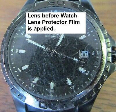 """The Original"" Watch Lens/Glass/Screen/Face Protector/Cover film.  Set of 2"