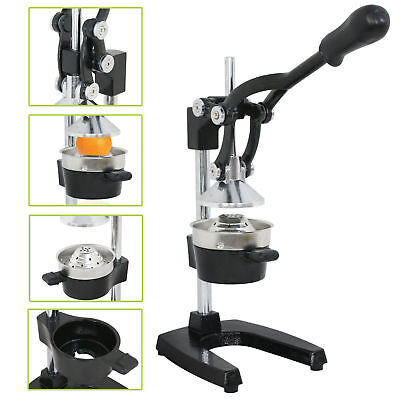 Hand Press Manual Fruit Juicer Juice Squeezer Black Citrus Lemon Extractor
