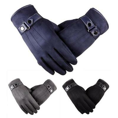 Warm Winter Touch Screen Smartphone Device Real Leather Gloves Thermal Driving