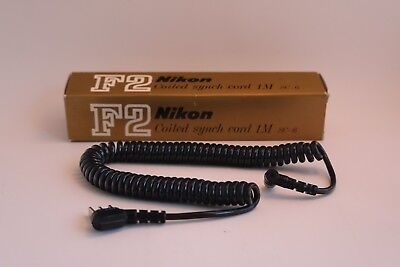 F2 Nikon Coiled Sync Cord 1M SC-6, in original box