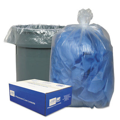 Classic Clear Clear Low-Density Can Liners 40-45gal .63 Mil 40 x 46 Clear 250