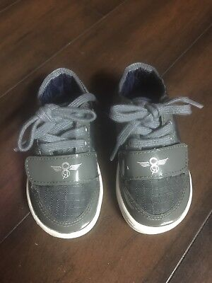 Creative Recreations Boy's Toddler Sneaker Shoes Grey Patent Leather Size 5t