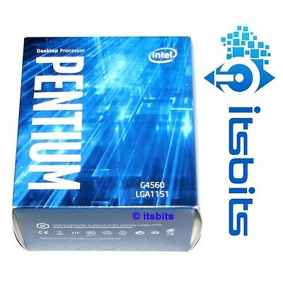 INTEL G4560 GEN7 KABY LAKE LGA1151 3.5GHz DUAL CORE 1151 CPU PROCESSOR 3MB CACHE