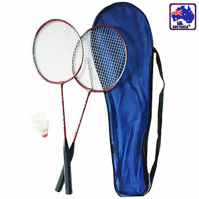 2 Players Badminton Set 2 Racquets Rackets & Shuttlecock&Bag Training OBADM1235