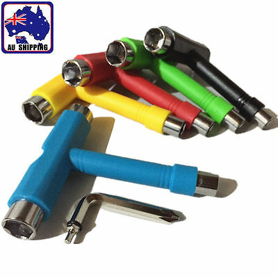 T Type Roller Skate Skateboard Tools Kick Scooter Mini Wrench Spanner TBIS534