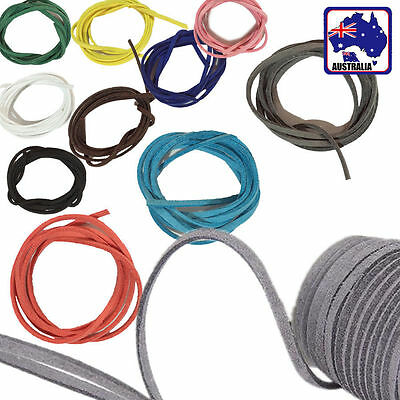 10 Rolls 1M Suede Leather Cord Thread String 3mm Bracelet Jewelry DIY CSLA008