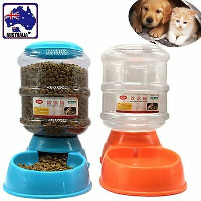 3.5L Pet Dog Feeder Automatic Drinker Drinking Water Food Bowl Dispenser PWAT316