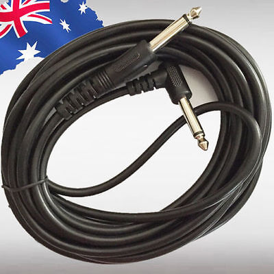 "5M Electric Guitar Amp Cable Lead Audio 6.35mm 1/4"" Male Jack M/M SMUCA3525"