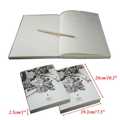 128 Sheets Art Thick Blank Paper Drawing Sewing Book Sketch Scrawl 19x26cm