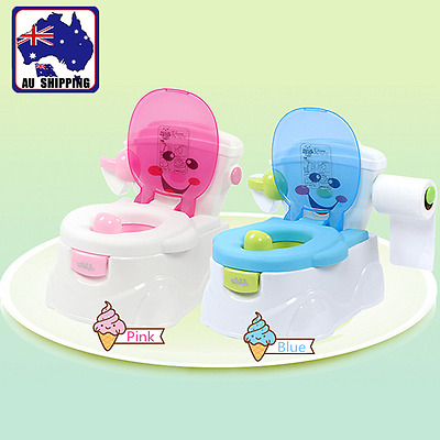Baby Toddler Toilet Training Potty Trainer Seat Blue Pink Kids Children BTOI595